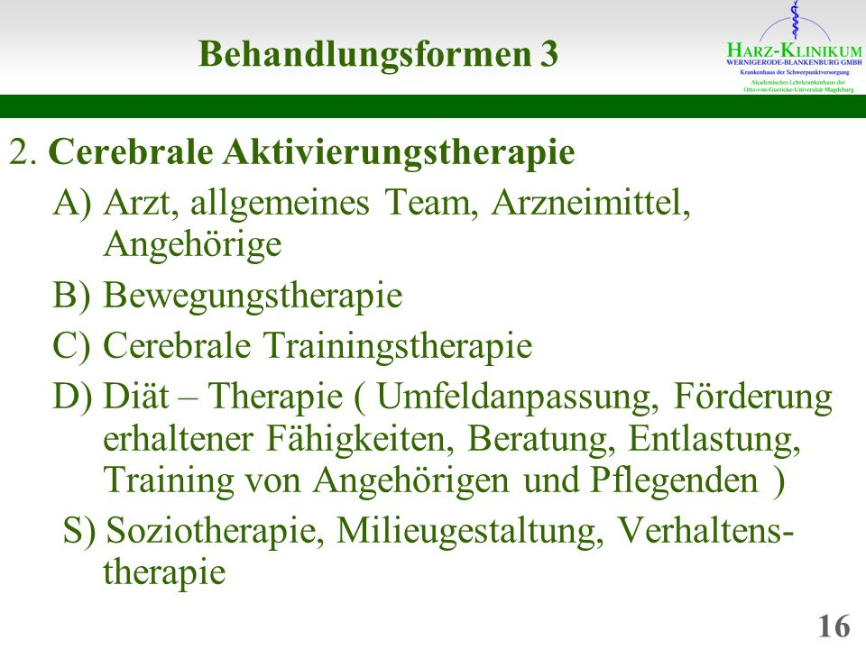 2. Cerebrale Aktivierungstherapie