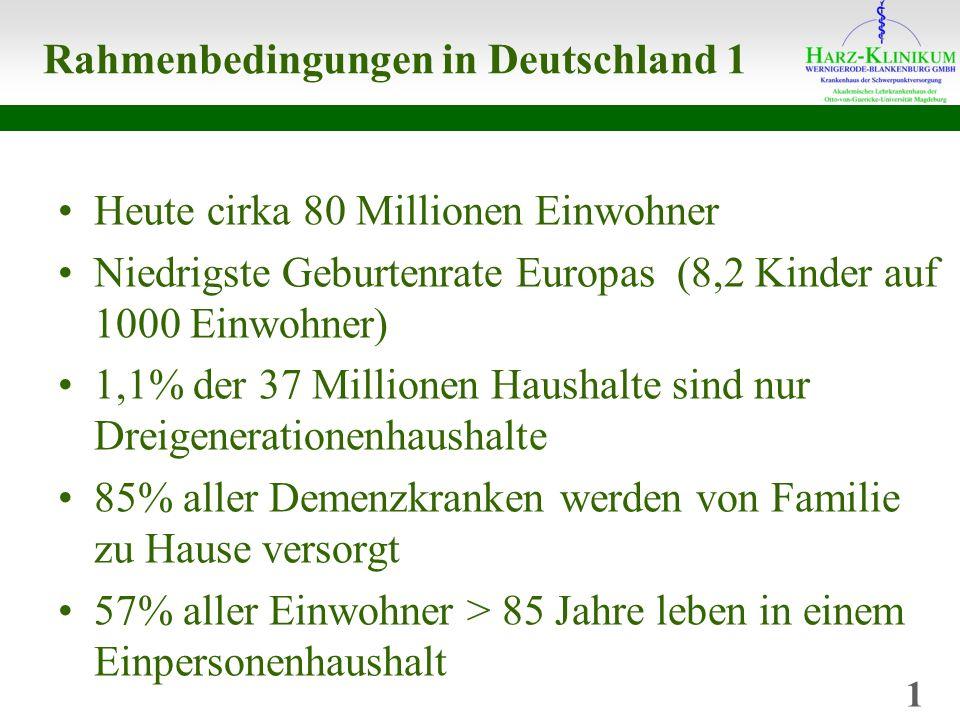 Rahmenbedingungen in Deutschland 1