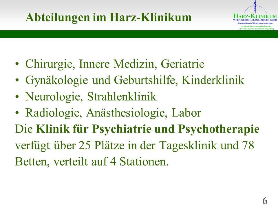 Abteilungen im Harz-Klinikum