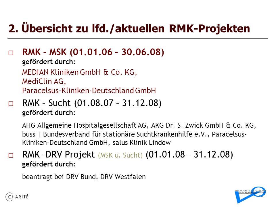 2. Übersicht zu lfd./aktuellen RMK-Projekten