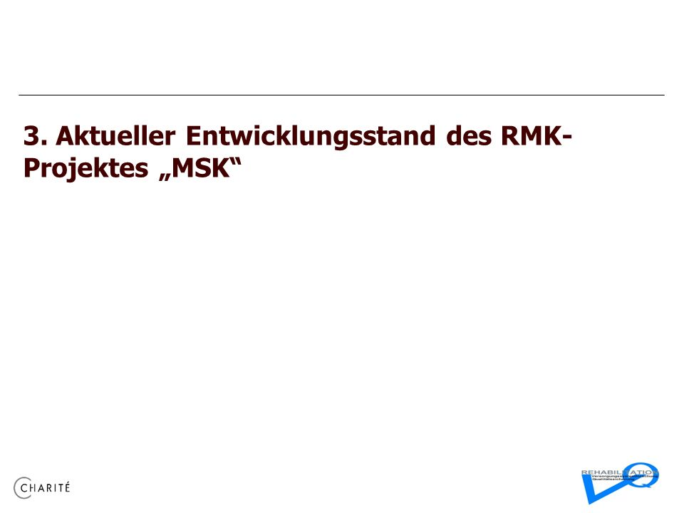 "3. Aktueller Entwicklungsstand des RMK-Projektes ""MSK"
