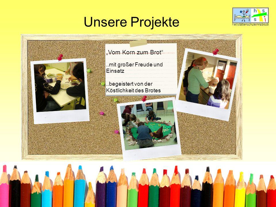 """Unsere Projekte """"Vom Korn zum Brot ..mit großer Freude und Einsatz"""