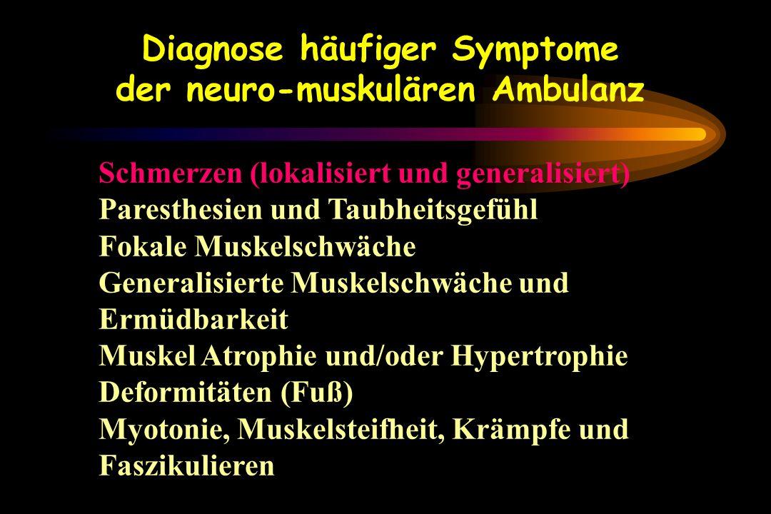 Diagnose häufiger Symptome der neuro-muskulären Ambulanz