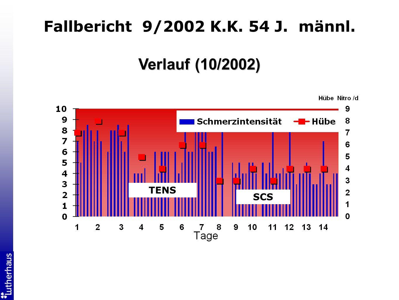 Fallbericht 9/2002 K.K. 54 J. männl.
