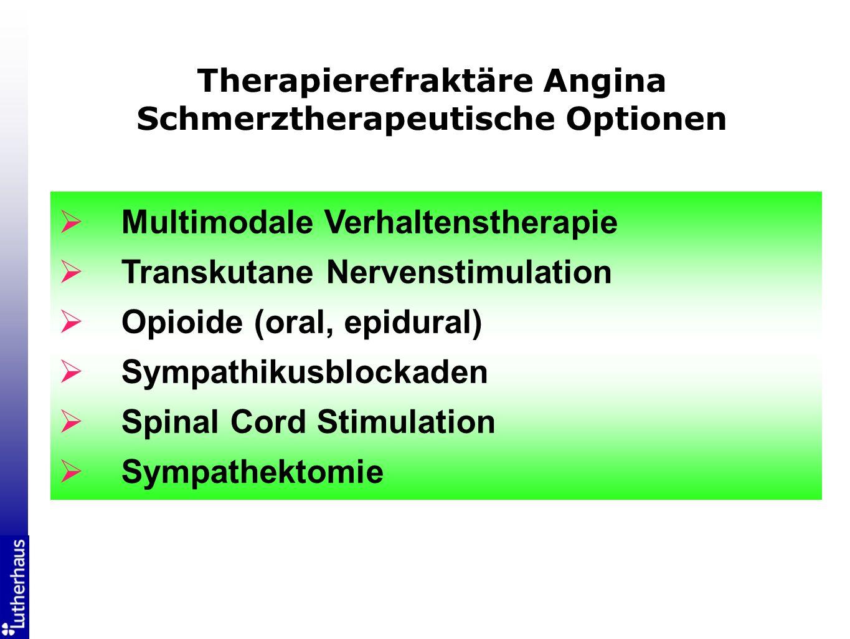 Therapierefraktäre Angina Schmerztherapeutische Optionen