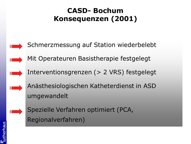 CASD- Bochum Konsequenzen (2001)