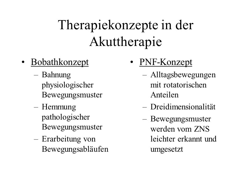 Therapiekonzepte in der Akuttherapie