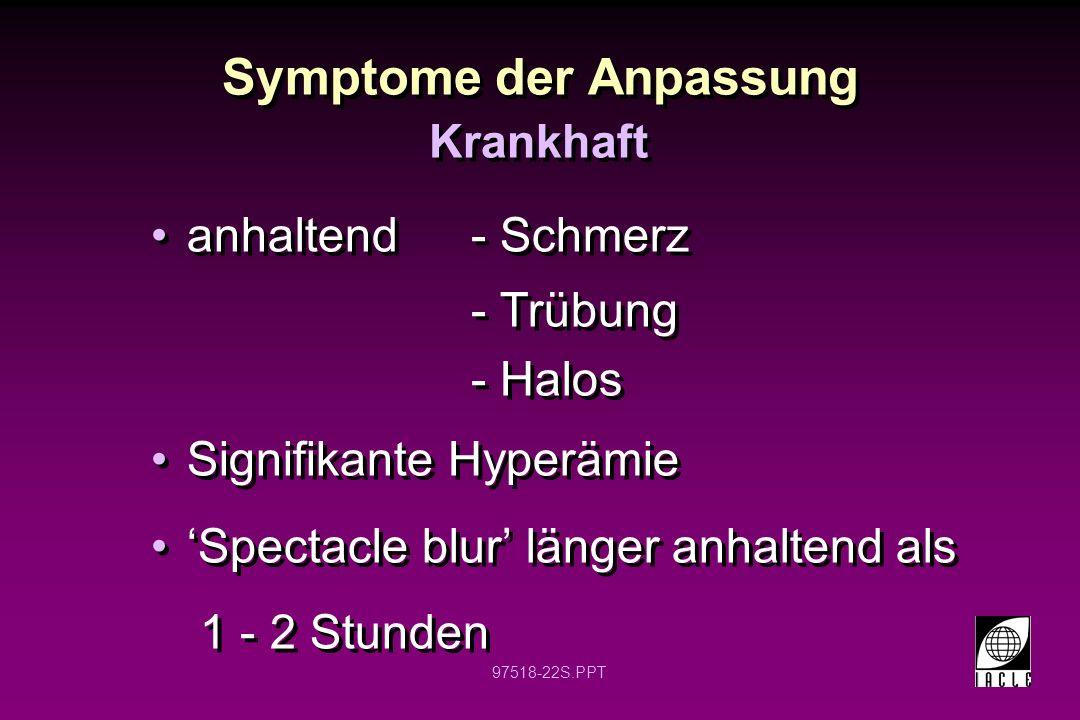 Symptome der Anpassung