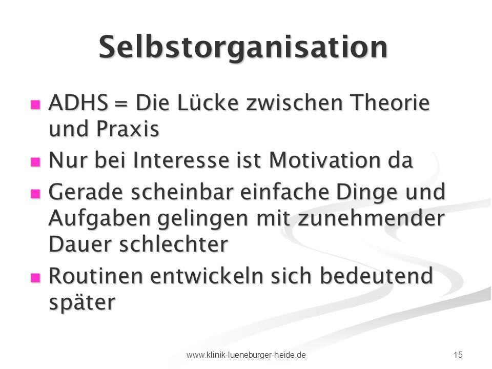 Selbstorganisation ADHS = Die Lücke zwischen Theorie und Praxis