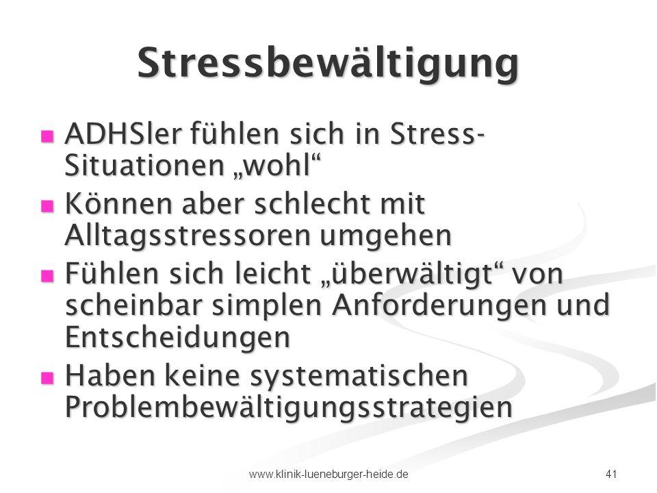 """Stressbewältigung ADHSler fühlen sich in Stress-Situationen """"wohl"""
