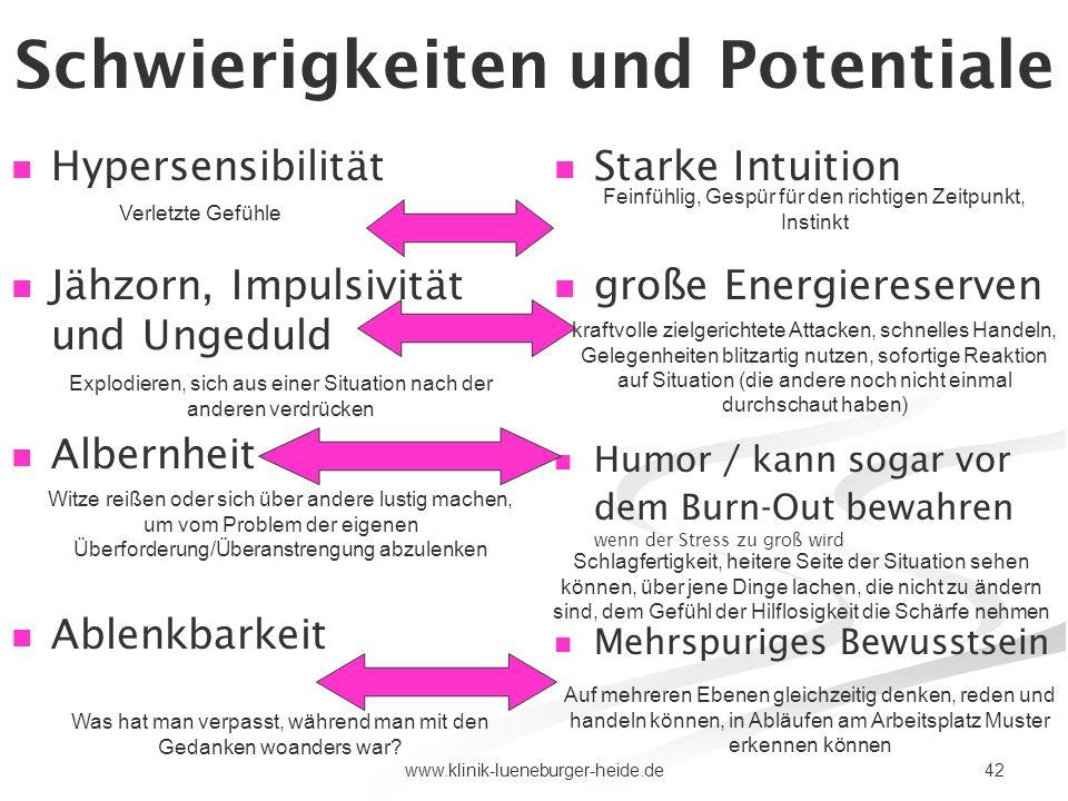 Schwierigkeiten und Potentiale 5)