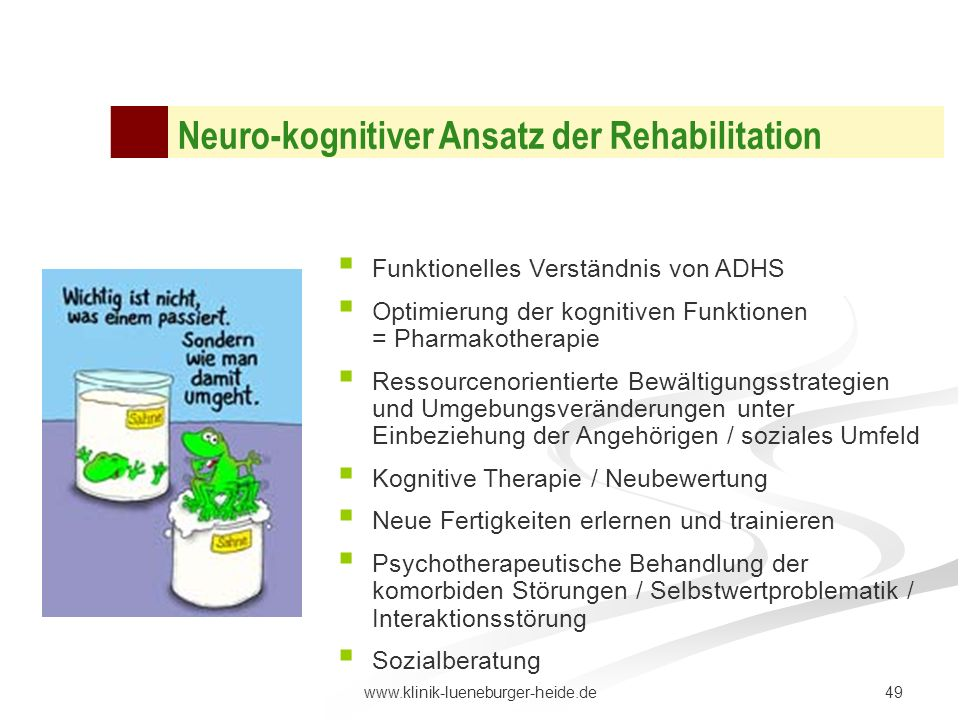 Neuro-kognitiver Ansatz der Rehabilitation