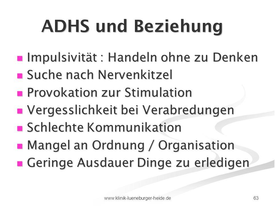 ADHS und Beziehung Impulsivität : Handeln ohne zu Denken