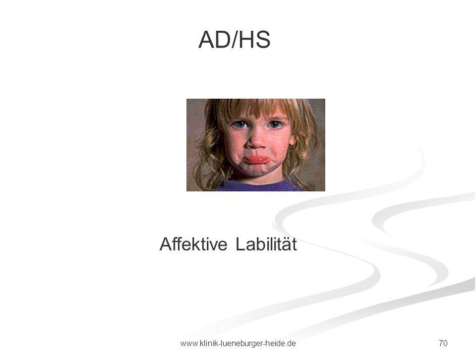 AD/HS Affektive Labilität www.klinik-lueneburger-heide.de