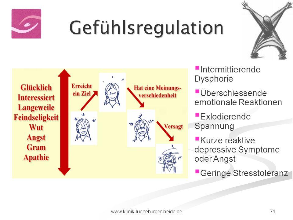Gefühlsregulation Intermittierende Dysphorie