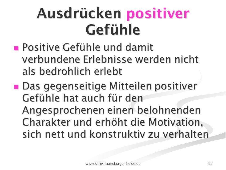 Ausdrücken positiver Gefühle