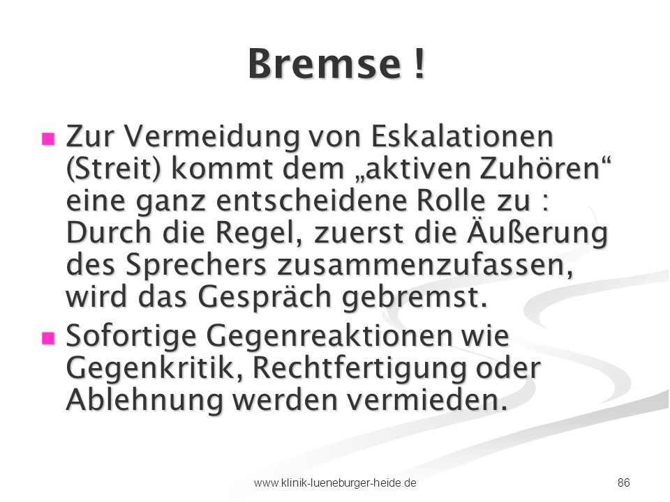 Bremse !