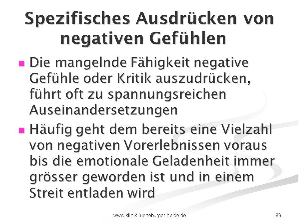 Spezifisches Ausdrücken von negativen Gefühlen