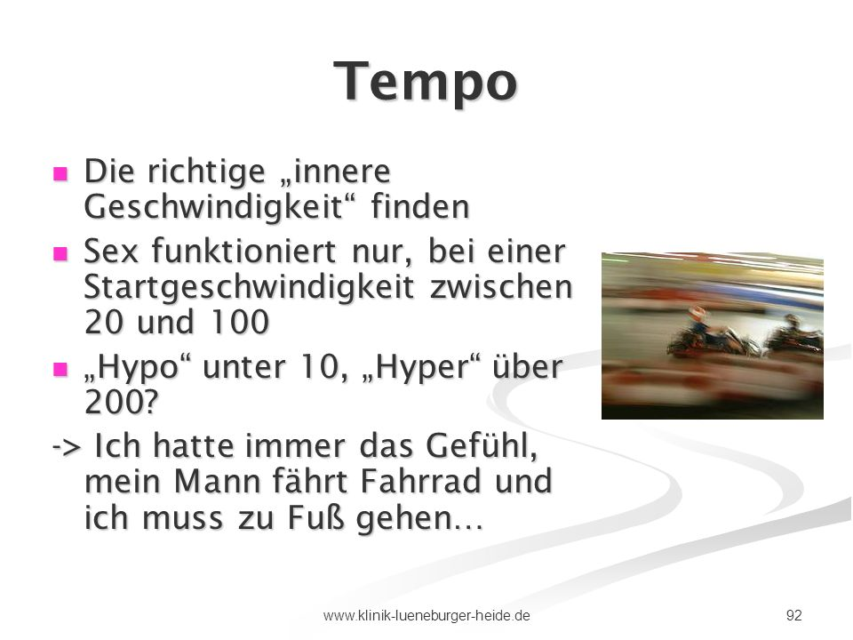 """Tempo Die richtige """"innere Geschwindigkeit finden"""