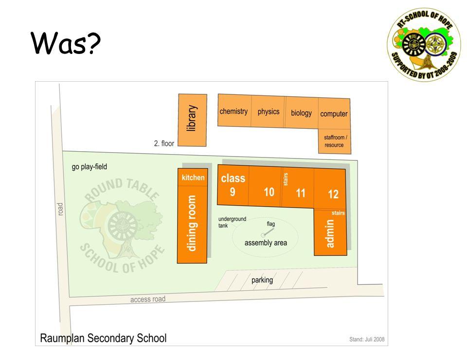 Was Die Verhandlungen zum Erwerb des Grundstücks laufen zwar noch, aber so planen wir die Secondary School.