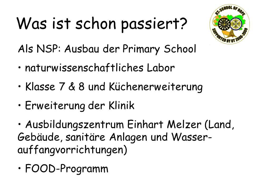 Was ist schon passiert Als NSP: Ausbau der Primary School