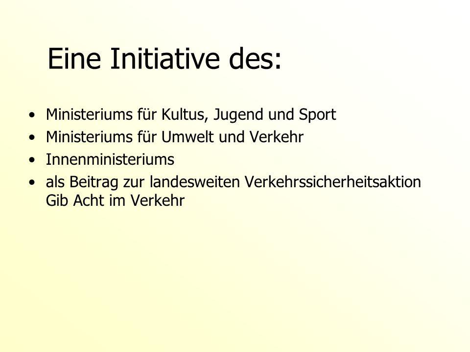 Eine Initiative des: Ministeriums für Kultus, Jugend und Sport