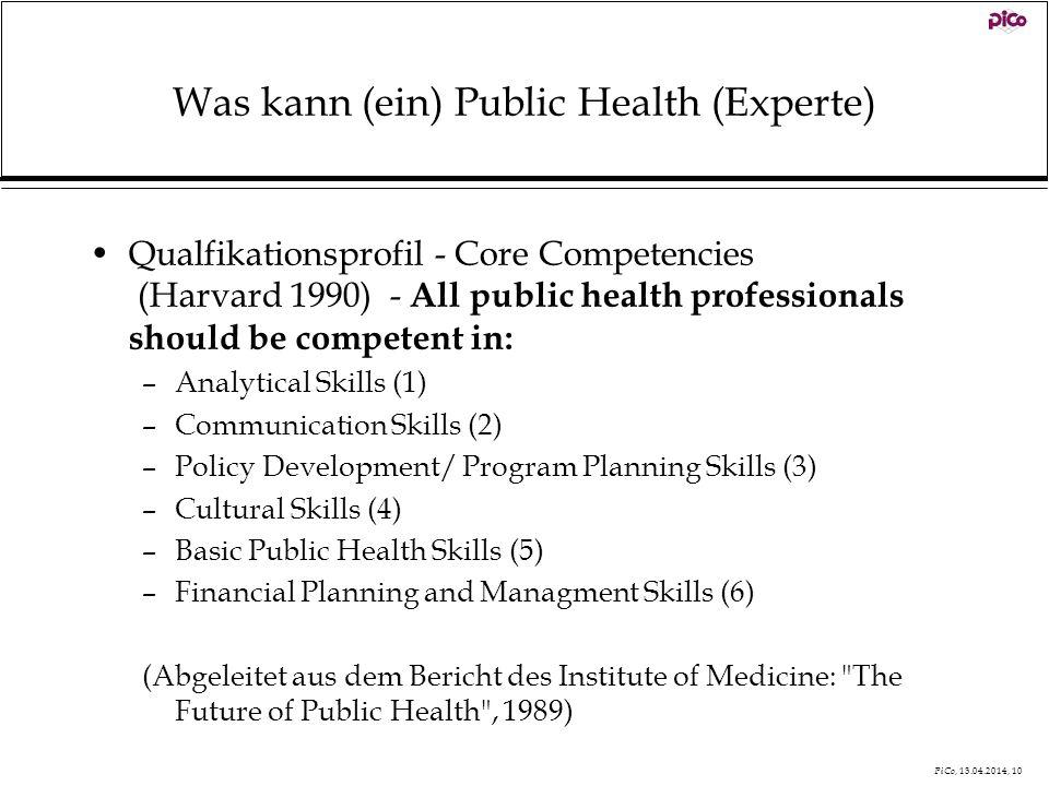 Was kann (ein) Public Health (Experte)