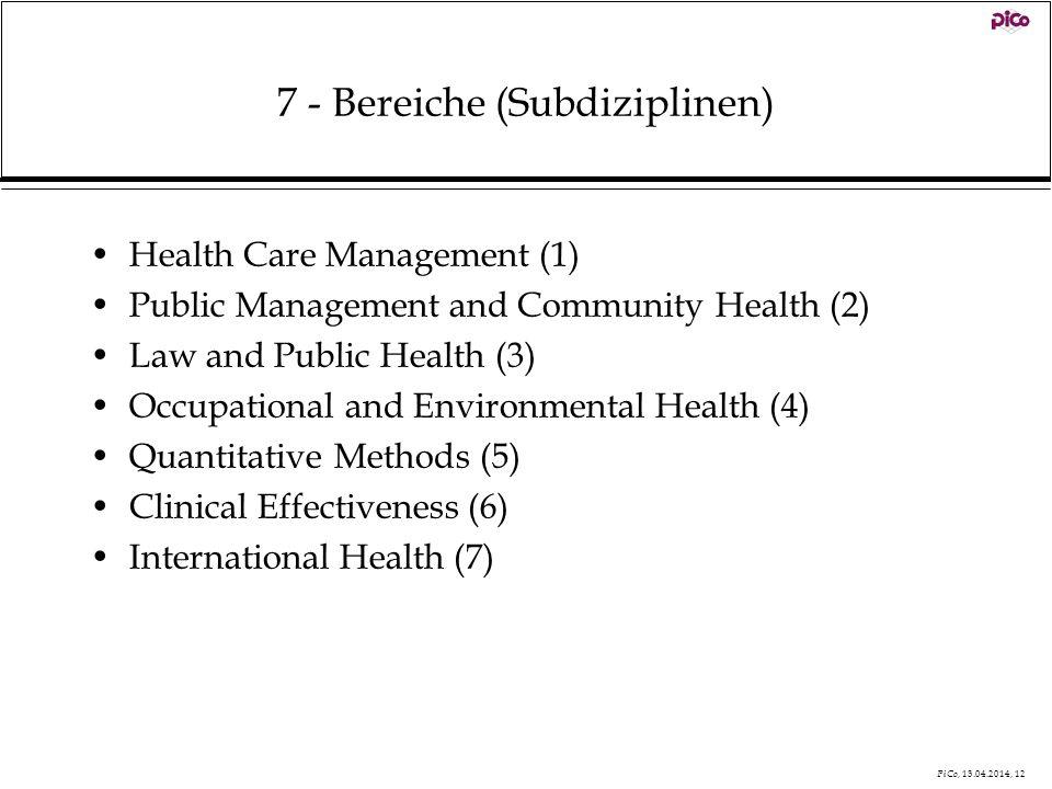7 - Bereiche (Subdiziplinen)
