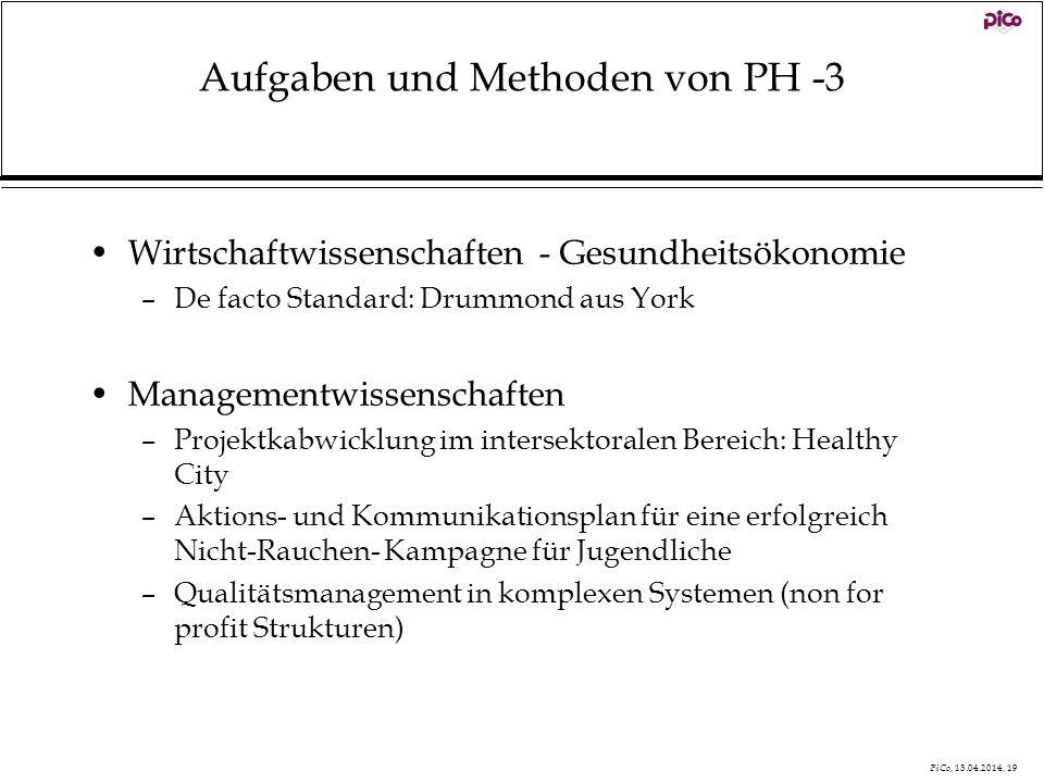 Aufgaben und Methoden von PH -3