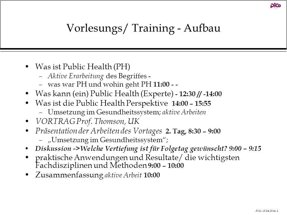 Vorlesungs/ Training - Aufbau