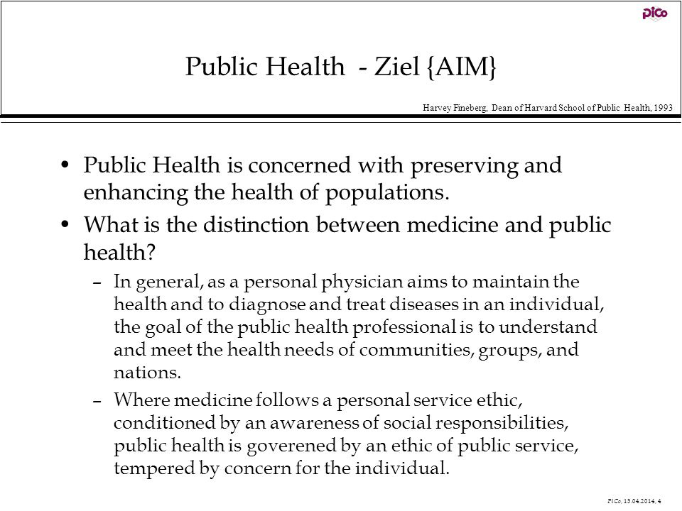 Public Health - Ziel {AIM}