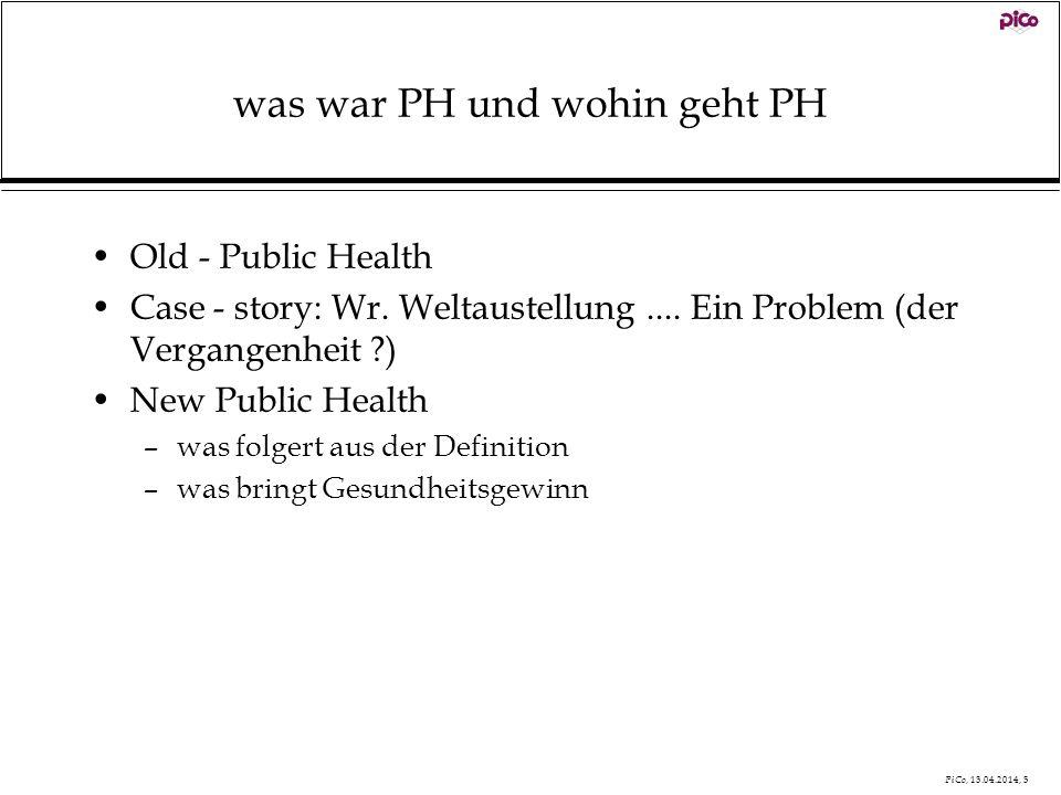 was war PH und wohin geht PH