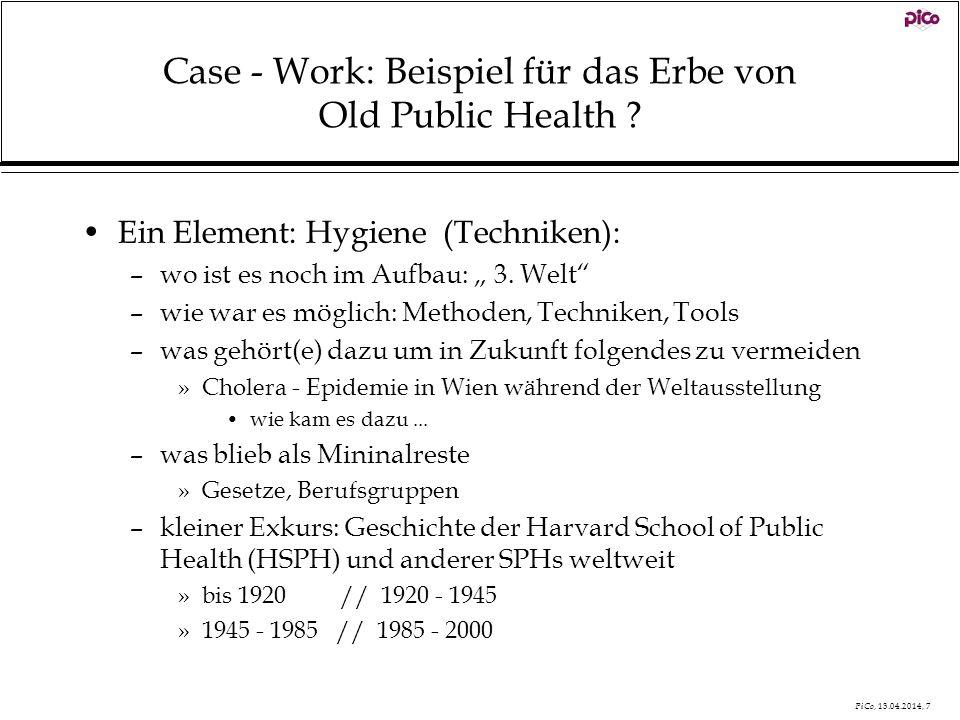 Case - Work: Beispiel für das Erbe von Old Public Health