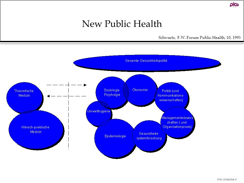 New Public Health Schwartz, F.W. Forum Public Health, 10, 1995