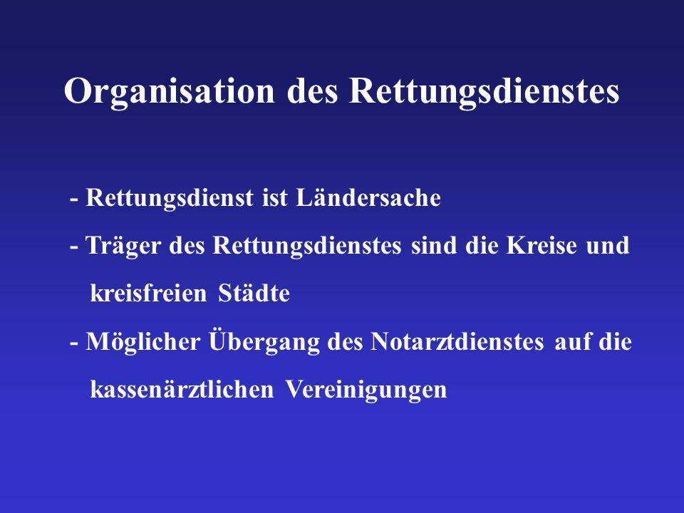 Organisation des Rettungsdienstes