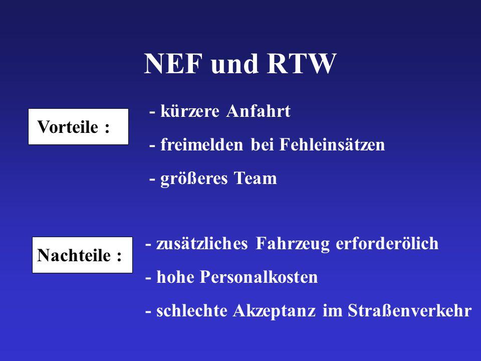 NEF und RTW - kürzere Anfahrt - freimelden bei Fehleinsätzen
