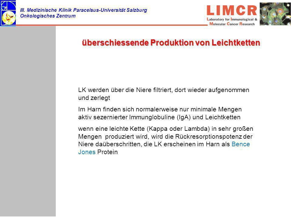 überschiessende Produktion von Leichtketten