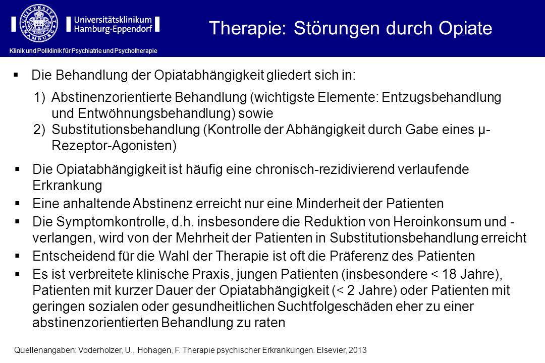 Therapie: Störungen durch Opiate