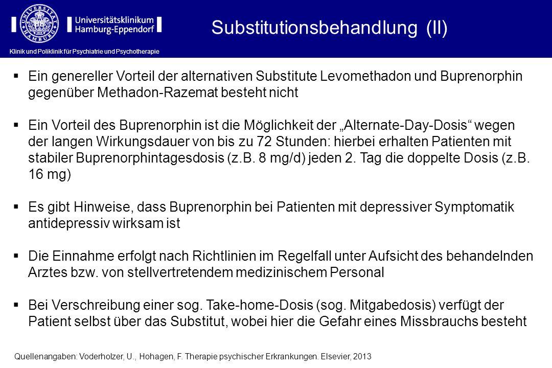 Substitutionsbehandlung (II)