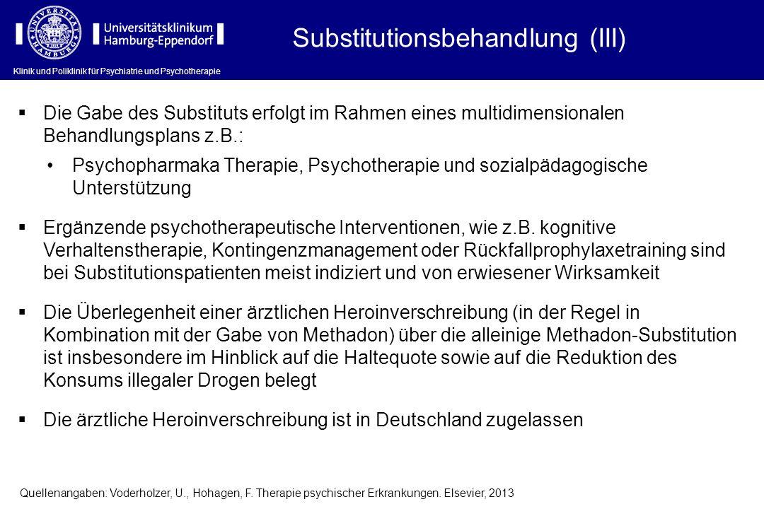 Substitutionsbehandlung (III)