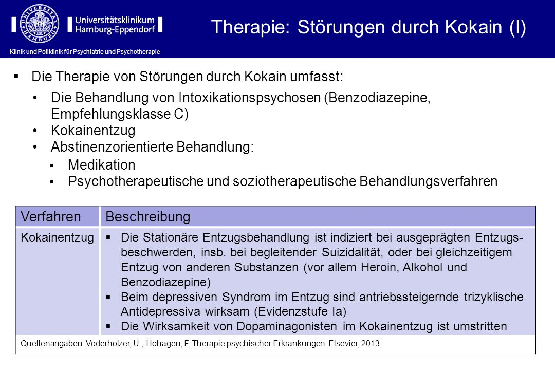 Therapie: Störungen durch Kokain (I)