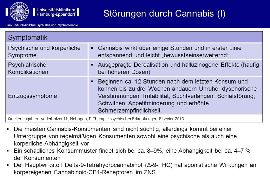Störungen durch Cannabis (I)