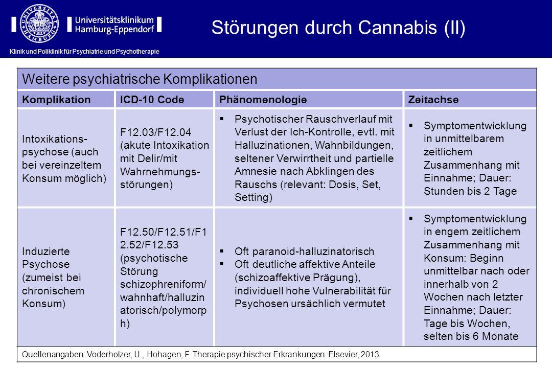 Störungen durch Cannabis (II)