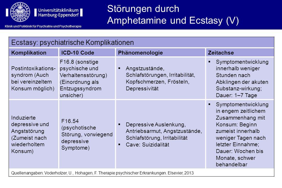 Amphetamine und Ecstasy (V)