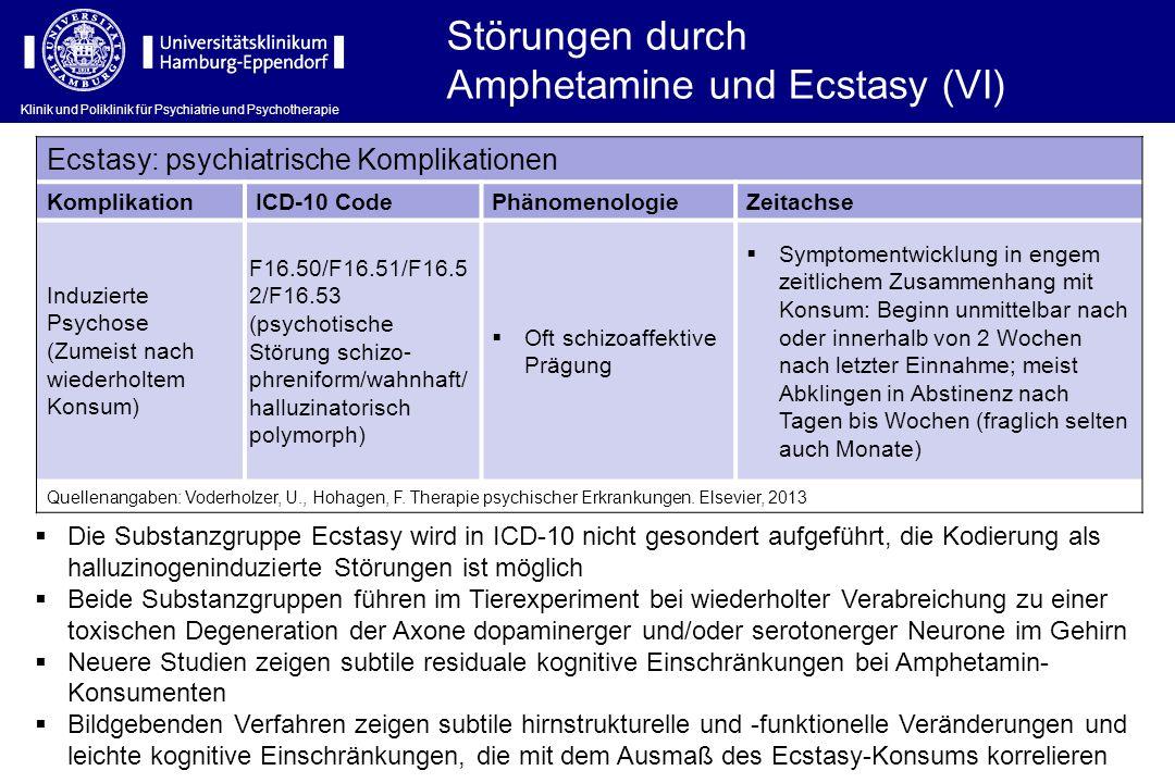 Amphetamine und Ecstasy (VI)