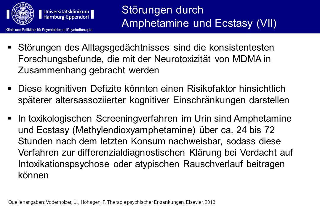 Amphetamine und Ecstasy (VII)
