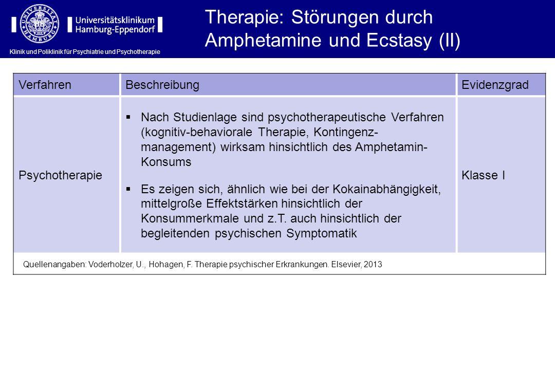 Therapie: Störungen durch Amphetamine und Ecstasy (II)