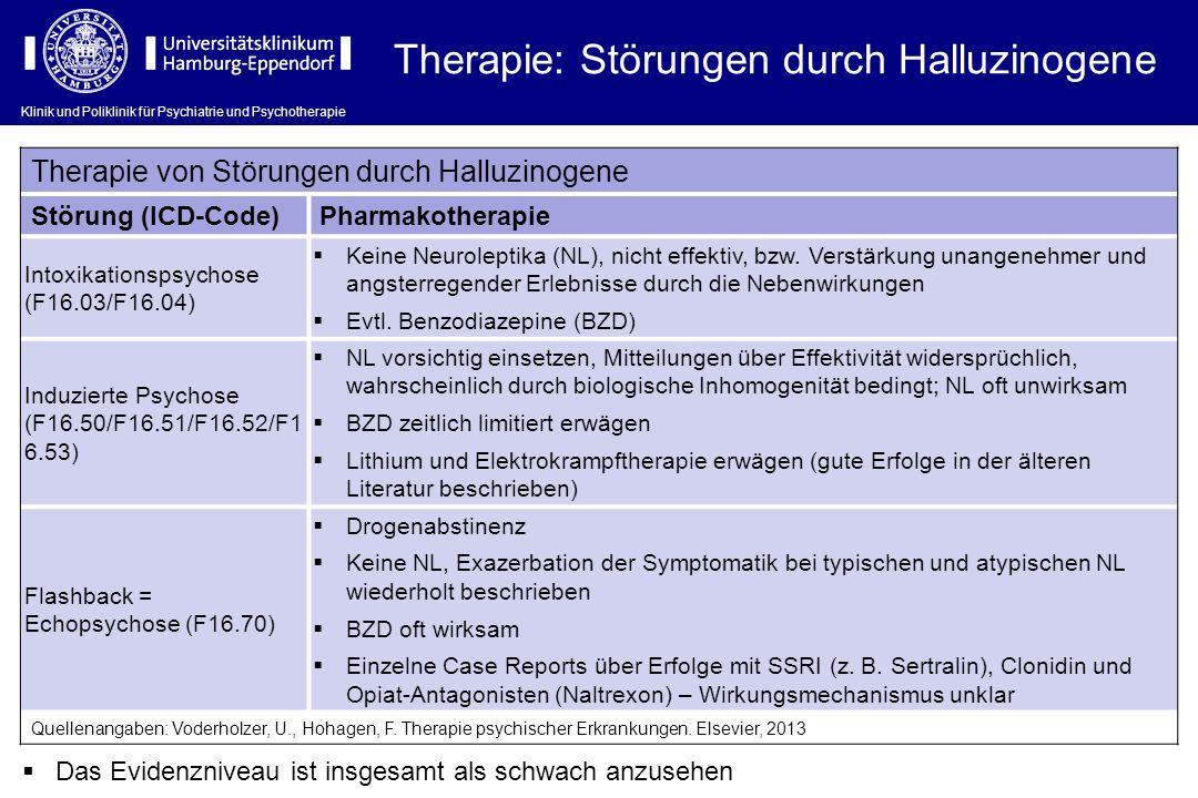 Therapie: Störungen durch Halluzinogene