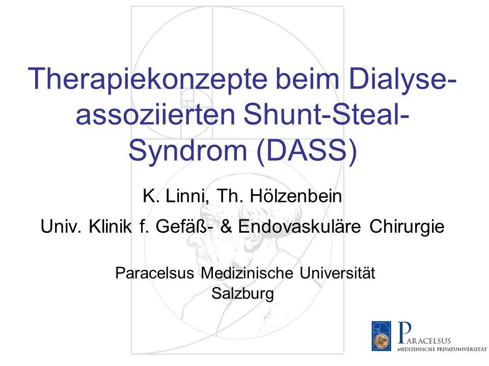 Therapiekonzepte beim Dialyse-assoziierten Shunt-Steal-Syndrom (DASS) K.