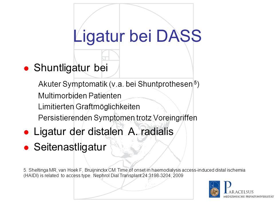Ligatur bei DASS Shuntligatur bei